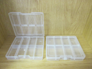8 Compartment Plastic Storage Boxes Crafts Wax Melts Fishing Beads