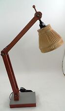 Magnificent Wood Wooden Steampunk Articulated Drafting Swing Arm Touch Base Lamp