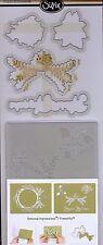 SIZZIX dies & embossing folders ORNAMENT #2 Christmas Frame Poinsettia Pine