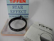 Original Tiffen 4 STAR 4pt 2mm Rotating 49MM Lens Filter boxed case inst paper