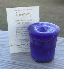 Creativity candles Crystal Journey Candles Herbal MAGIC Creative votives wicca