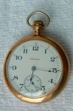 Late 1800s Or Early 1900s Hampden Gold Pocket Watch Working Great #8