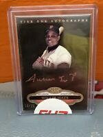 2013 Topps Tier One Willie Mays Rose Ink Auto #'d 25