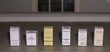 HAND-MADE DOLLS' HOUSE 1/12TH SCALE SET OF SIX PERFUME BOXES
