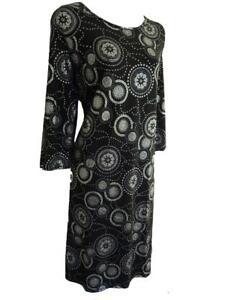 PRASLIN @ SIMPLY BE BLACK/PURPLE/SILVER SPARKLY GLITTER DRESS - PLUS SIZES 18-28