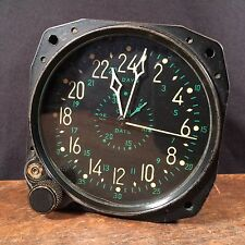Vtg Military Airplane Clock Cockpit WWII Pilot Waltham Clock Co PRIORITY MAIL