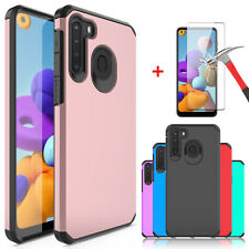 For Samsung Galaxy A21 A11 Shockproof Hybrid Phone Case Cover / Screen Protector