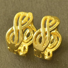 Chic Design 9K Yellow Gold Filled Womens Hoop Earrings Lucky Jewelry