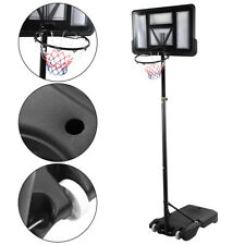 6-10Ft Adjustable Adult Basketball Hoop System Stand w/ Wheels Backboard Outdoor