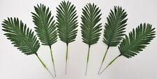 Set of 6 Artificial Palm Leaves - 50cm - Dark Green Fake Fern Plant Cycas