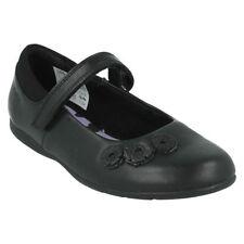 Chaussures noirs larges pour fille de 2 à 16 ans