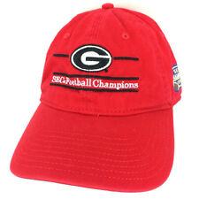 Georgia Cap SEC Football Champions 2017 Hat Dawgs Bulldogs Logo Baseball Red