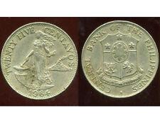 PHILIPPINES 25  centavos  1964