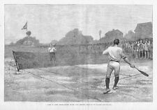 TENNIS 1881 GAME OF LAWN TENNIS STATEN ISLAND CLUB GROUNDS EARLY LAWN TENNIS