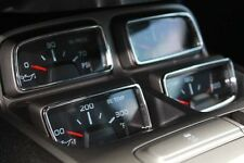 2010-2014 Chevrolet Camaro Billet Gauge Control Trim Rings Black