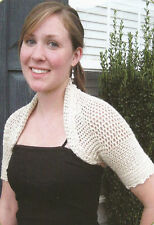 Crochet Pattern ~ LADIES CUTE SHRUG Shawl ~ Instructions