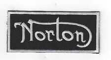 Larger NORTON Iron On Patch 4 inch x 2 inch BUY 2 OF THESE GET 3 OF THESE