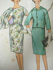 Vintage Simplicity 4854 MAD MEN DRESS & JACKET Sewing Pattern Women Sz 12