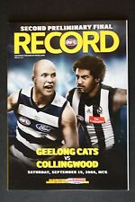 2009 Geelong Cats vs Collingwood 2nd preliminary final football record footy
