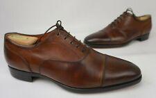 Santoni Eamon Brown Leather Cap Toe Oxford Men's Shoes Size 9 D