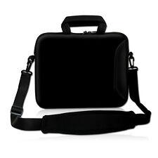 """9 10 10.1"""" Black Neoprene Shoulder Bag Case  For Netbook Laptop Tablet iPad PC"""
