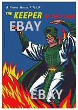 POWER PIN-UP Print - KEEPER Of FLAME Avengers Vintage Art Marvel UK Distribution
