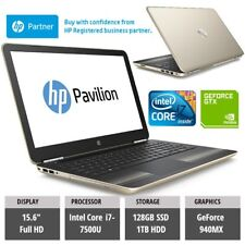 HP Pavilion Gaming Laptop i7-7500U 12GB 1TB + 128GB SSD NVIDIA GeForce 940MX 4GB