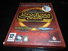 The Lord of the Rings Online Compilation Pack  Volumes 1 +2    pc game