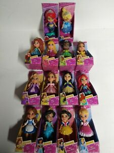 Disney Princess complete set of 13 poseable mini figures NEW & Display included