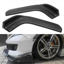2x Carbon Fiber Style Winglet Type Car Front Bumper Lip Diffuser Splitter Canard