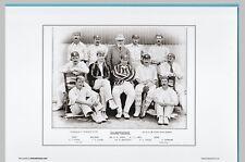 CRICKET  -  UNMOUNTED CRICKET TEAM PRINT - HAMPSHIRE - 1895