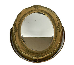 Clearance Sale. Antique Oval Mirror With Stand.