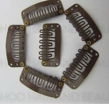 Hair Extension Snap Clips Weft, Grips Remy 32mm BLACK, BROWN & BLONDE