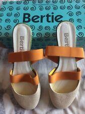 Cream, orange & green Bertie shoes. Size 5.5 (39)