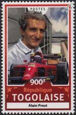 ALAIN PROST & FERRARI F1-90 Formula One Grand Prix (GP) Car Stamp (2016 Togo)