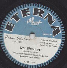 Bariton Hans Heinz Wunderlich singt Franz Schubert : An die Leier + Der Wanderer