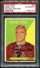 1958 Topps BOBBY HULL #66 RC Rookie Card  PSA/DNA CERTIFIED AUTHENTIC  *RARE*