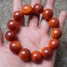 18 MM Natural Red Agathis King of Wood Bracelet 13 Beads Raja kayu #A7