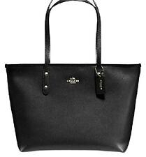 NWT Coach BLACK City Zip Leather Tote Bag F58846 F36875 - New$295