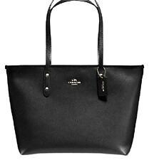 NWT Coach BLACK City Zip Leather Tote Bag F58846 F36875 - New$295