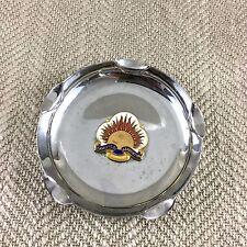 Vintage Samoyed Association Silver Plate Ash Tray Enamel Pedigree Dog Dogs Vtg