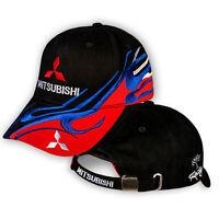 Mitsubishi Kappe 3D GESTICKTE Logo Mütze Baseball Cap Herren Accessoires Schwarz