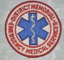 "District Memorial Emergency Medical Services Patch - EMS Ambulance 4"" x 4"" NC"
