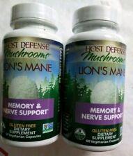 Host Defense Mushrooms Lion's Mane Memory & Nerve 2x60=120 Capsules Exp 2021