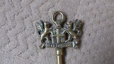 Vintage brass toasting fork City of London Crest Coat of Arms LP &Co kitchenalia
