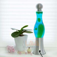 Bulbeuse Lava Lampe 42cm en Vert Bleu à Lave Magma de Table
