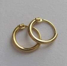 585er-Gold 14 kt. Mini Rundrohr-Creolen 11 mm poliert K308