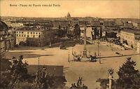 Rom Roma Italien Italia Italy ~1910 Piazza del Popolo vista del Pincio Obelisk