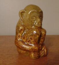 Rookwood 1965 Monkey Paperweight Mustard Seed Glaze MINT!