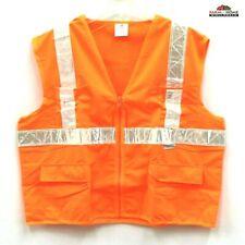 Hi Vis Reflective Orange Safety Work Vest 2xl3xl New
